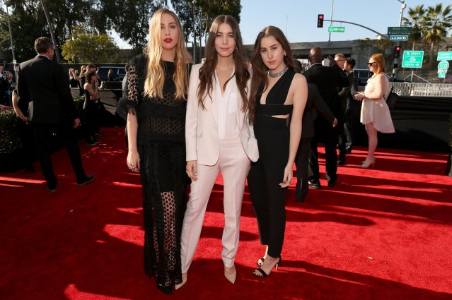 Este Haim in Chloé, Danielle Haim in Stella McCartney, and Alana Haim in Stella McCartney